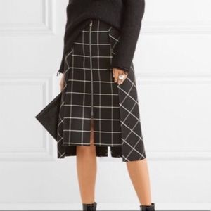 Rag & Bone Sabrina layered checkered twill mini